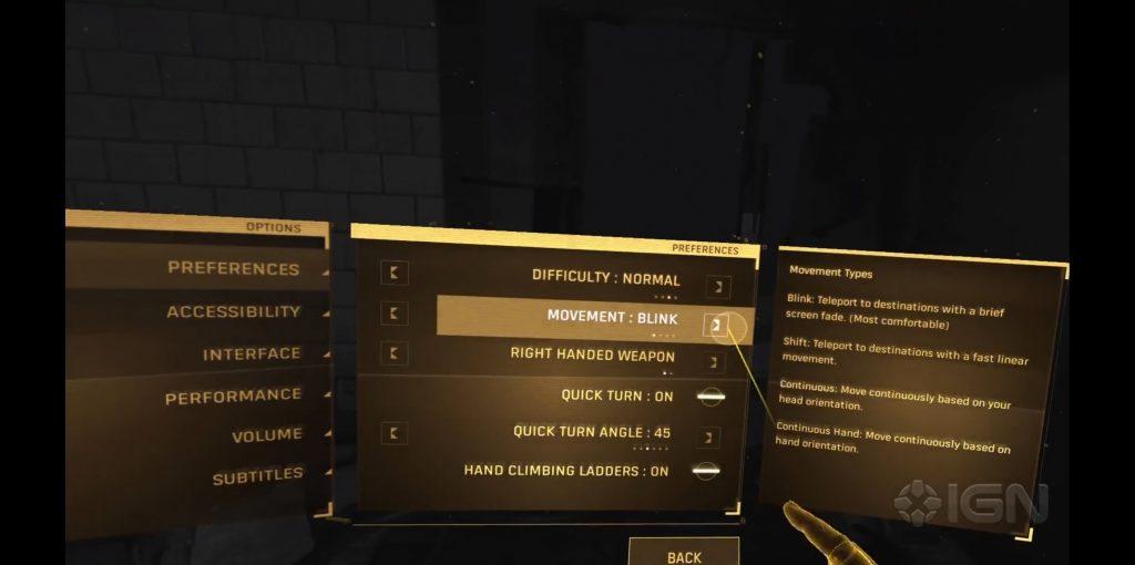 Half-Life: Alyx movement options
