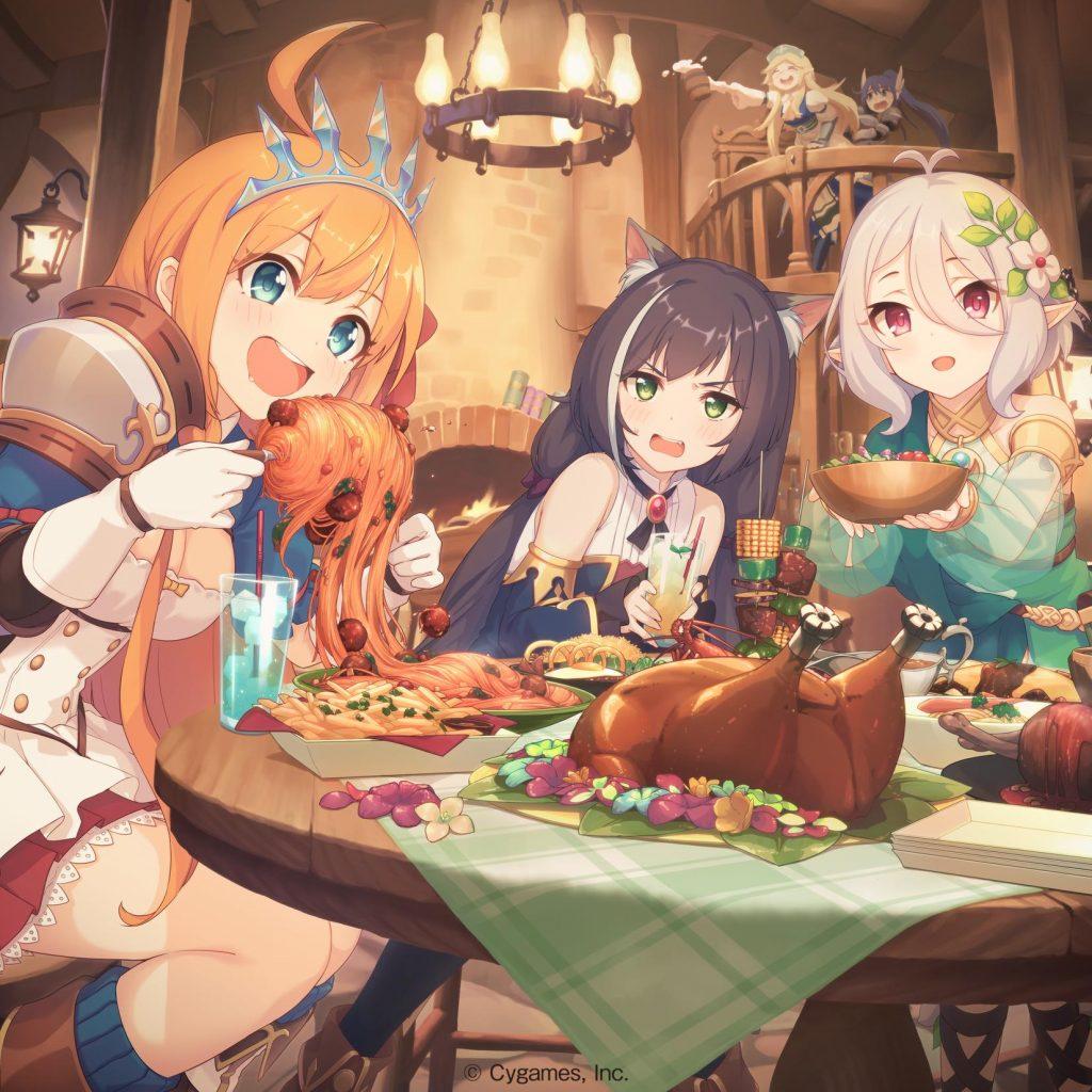Kyaru, Kokkoro, and Pecorine from Princess Connect! Re:Dive